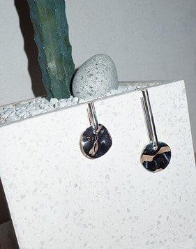 [Bitter Sweet]Z-82 Circle plate II Earring