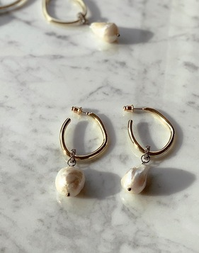 Pearl Drop Earrings 공구